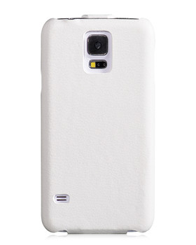 Hoco Duke Samsung Galaxy S5|S5 NEO Real Leather Flip Case White