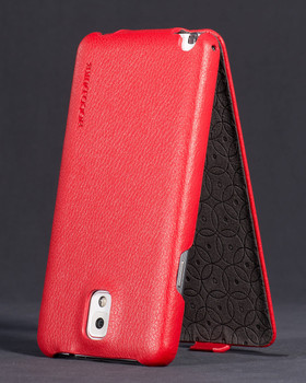 galaxy note 3 red leather cover