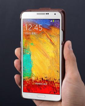Hoco Duke Samsung Galaxy Note 3 Genuine Leather Flip Case Brown