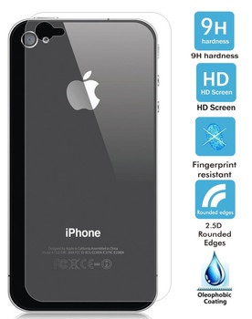 iPhone 4S 4 Tempered Glass Protector Back