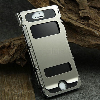 iPhone 5S Metal Gear Steel Iron Flip Case Silver