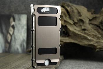 iPhone 5S Metal Gear Aluminum Flip Case Gold