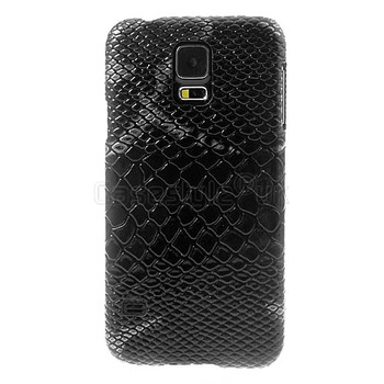 Samsung Galaxy S5 Snakeskin Style Case Black
