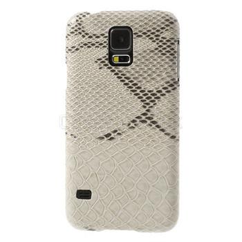 Samsung Galaxy S5 Snakeskin Style Case Cream