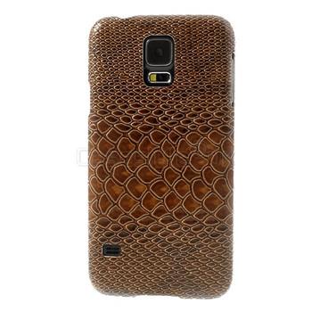 Samsung Galaxy S5 Snakeskin Style Case Brown