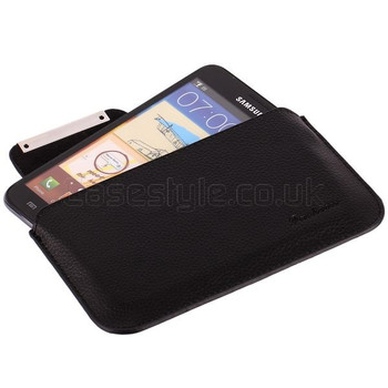 Samsung Galaxy S5 Real Leather Pouch Black
