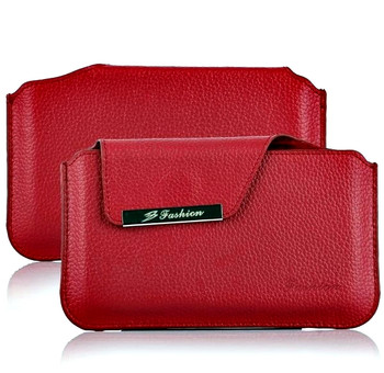 s5 red leather pouch