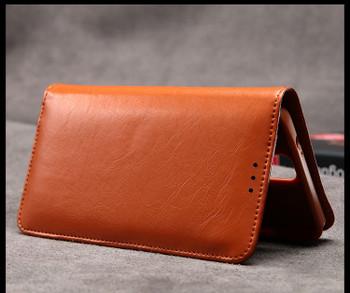 Samsung Galaxy Note 3 Premium Calf Leather Wallet Case Brown