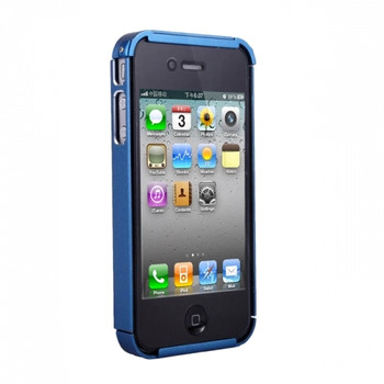 iPhone 4S Metal Armor Shell Case Blue