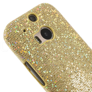 HTC One 2 M8 Glitter Case Gold