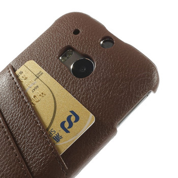 HTC One M8 Leather Back Case Brown