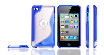 iPod Touch 4G S Shape Gel Case Blue