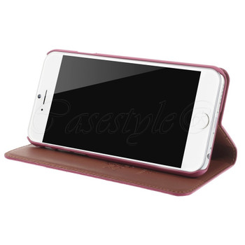 iPhone 6 6S Genuine Leather Slim Cover Pink