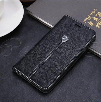 iPhone 6+6S PLUS Real Leather Wallet Cover Black