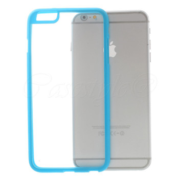 iPhone 6+6S PLUS Bumper Case Blue Clear Back