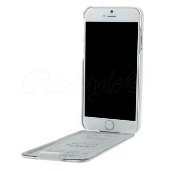 iPhone 6 6S Genuine Leather Flip Case White