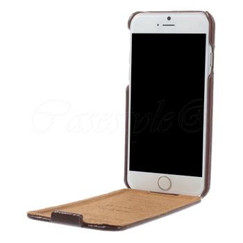 iPhone 6 6S Genuine Leather Flip Case Brown