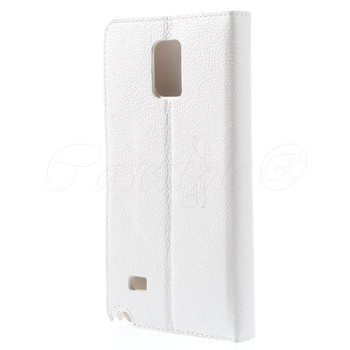 Samsung Galaxy Note 4 Leather Slim Cover White