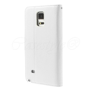 Samsung Galaxy Note 4 Real Leather Wallet Case White