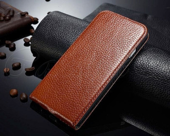 iPhone 6 6S Leather Flip Cover Brown