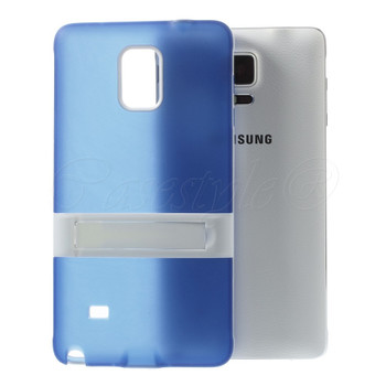 Samsung Galaxy Note 4 Skin Blue with Bumper Stand
