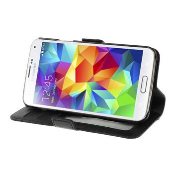 Samsung Galaxy S5/S5 NEO Diamond Leather Case Black