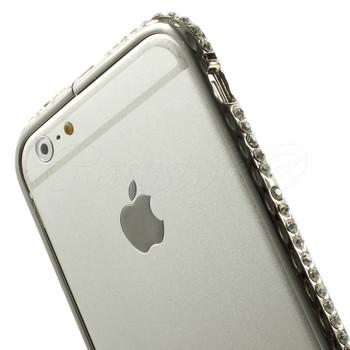 iPhone 6 6S Luxury Diamante Bumper Case Silver