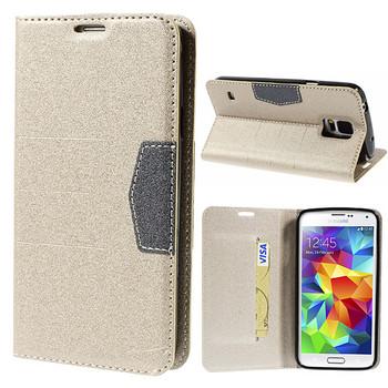 Samsung Galaxy S5/S5 NEO Wallet Case Gold