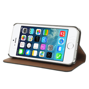 iPhone 5 5S Real Leather Slim Cover Black