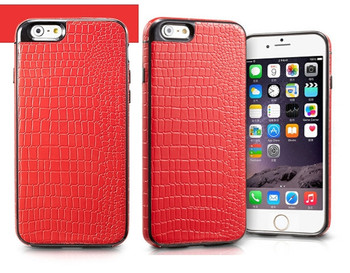 iPhone 6 6S Crocodile Style Case Red