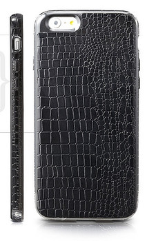 iPhone 6 6S Crocodile Style Case Black