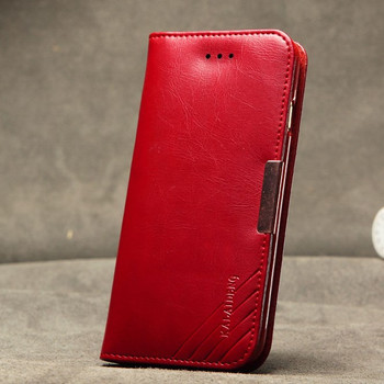 iPhone 6 6S Premier Wallet Leather Case Red