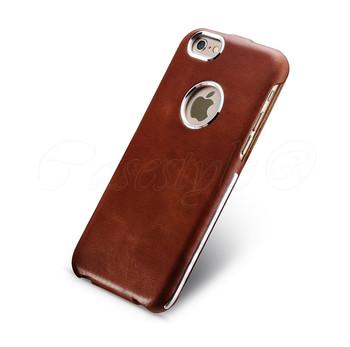 iCarer iPhone 6 6S Vintage Leather Flip Case Brown