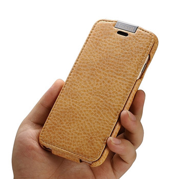 iCarer iPhone 6 6S Microfiber Leather Flip Case Brown