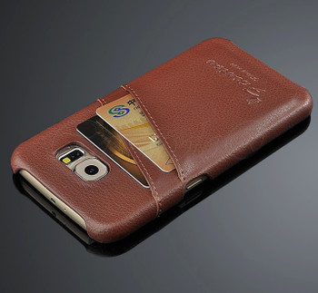 Samsung Galaxy S6 Leather Back Case Brown