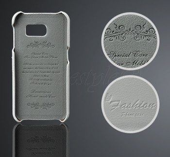 Samsung Galaxy S6 Leather Back Case White