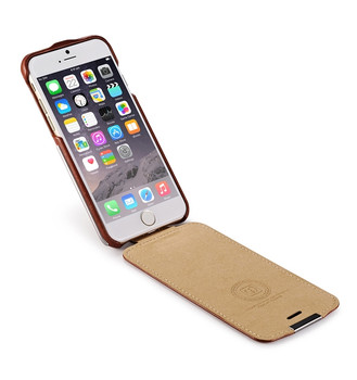 iCarer iPhone 6 6S Microfiber Leather Flip Case Coffee