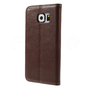 Samsung Galaxy S6 Real Leather Slim Cover Brown
