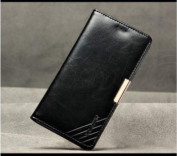 Sony Xperia Z3 Premium Leather Wallet Case Black