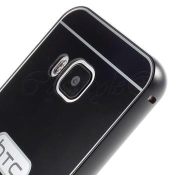 HTC One M9 Aluminum Bumper+Hard Back Case Black