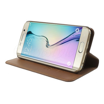Samsung Galaxy S6 EDGE Genuine Leather Case Brown