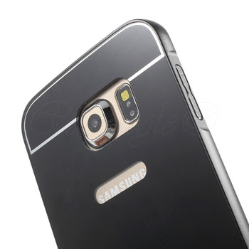 Samsung Galaxy S6 EDGE Aluminum Bumper Hard Cover Black