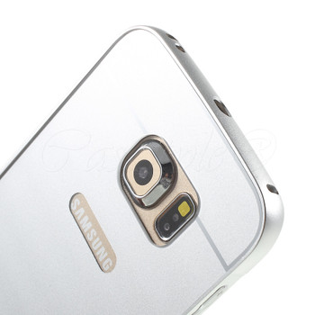 Samsung Galaxy S6 EDGE Aluminum Bumper Hard Cover Silver