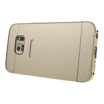 Samsung Galaxy S6 EDGE Aluminum Bumper Hard Cover Gold