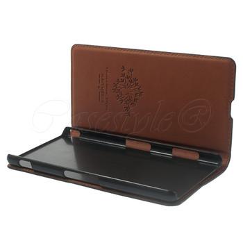 Sony Xperia Z3+ Plus Leather Case Black