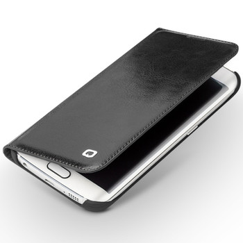 Qialino Samsung S6 Luxury Leather Wallet Case Black