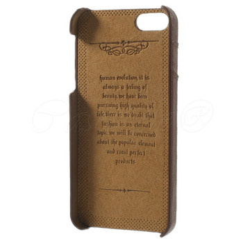 iPhone 5 5S Genuine Leather Back Cover Brown