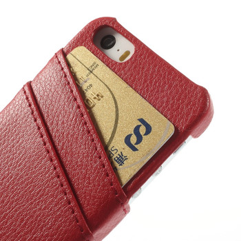 iPhone 5 5S Genuine Leather Back Cover Red
