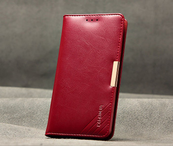 Sony Xperia Z3+Plus Luxury Leather Wallet Cover Red