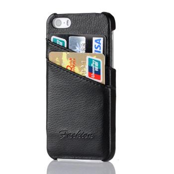 iPhone 5C Genuine Leather Back Case Black